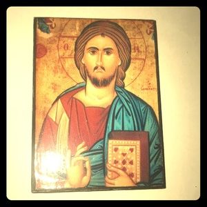 From the Holy Land: Small icon of Christ